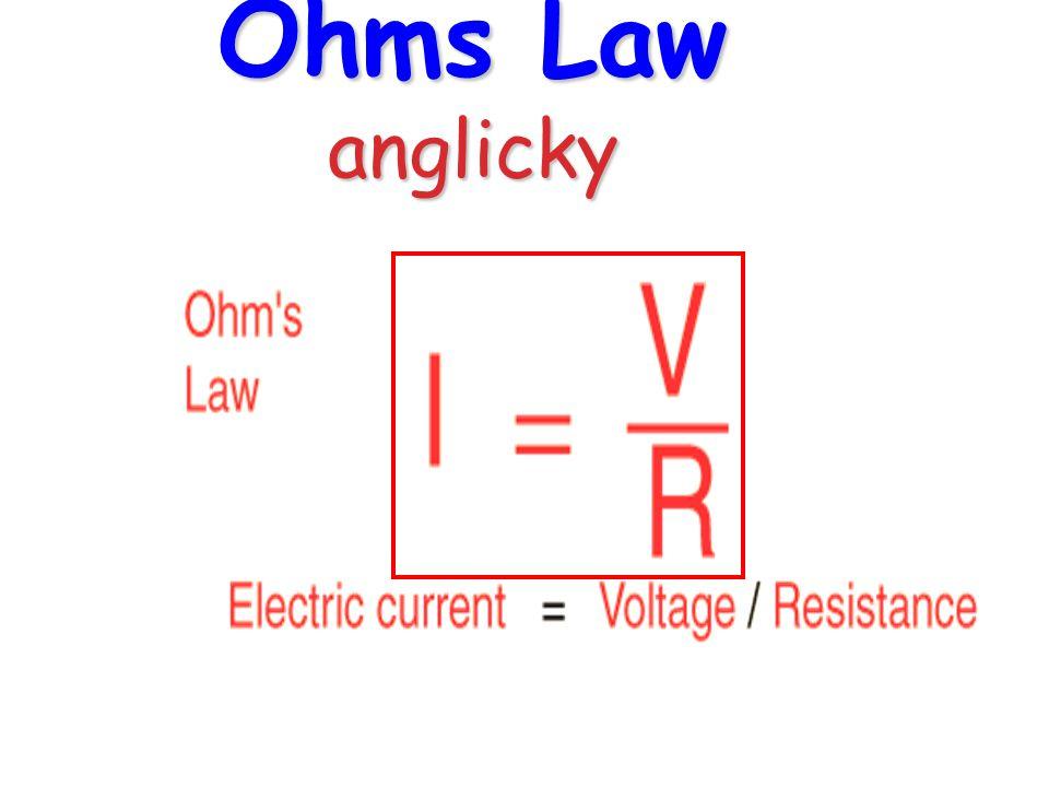 Ohms Law anglicky