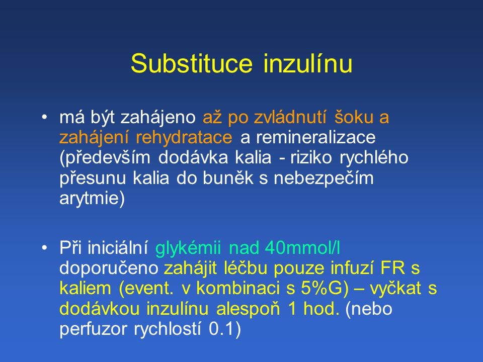 Substituce inzulínu