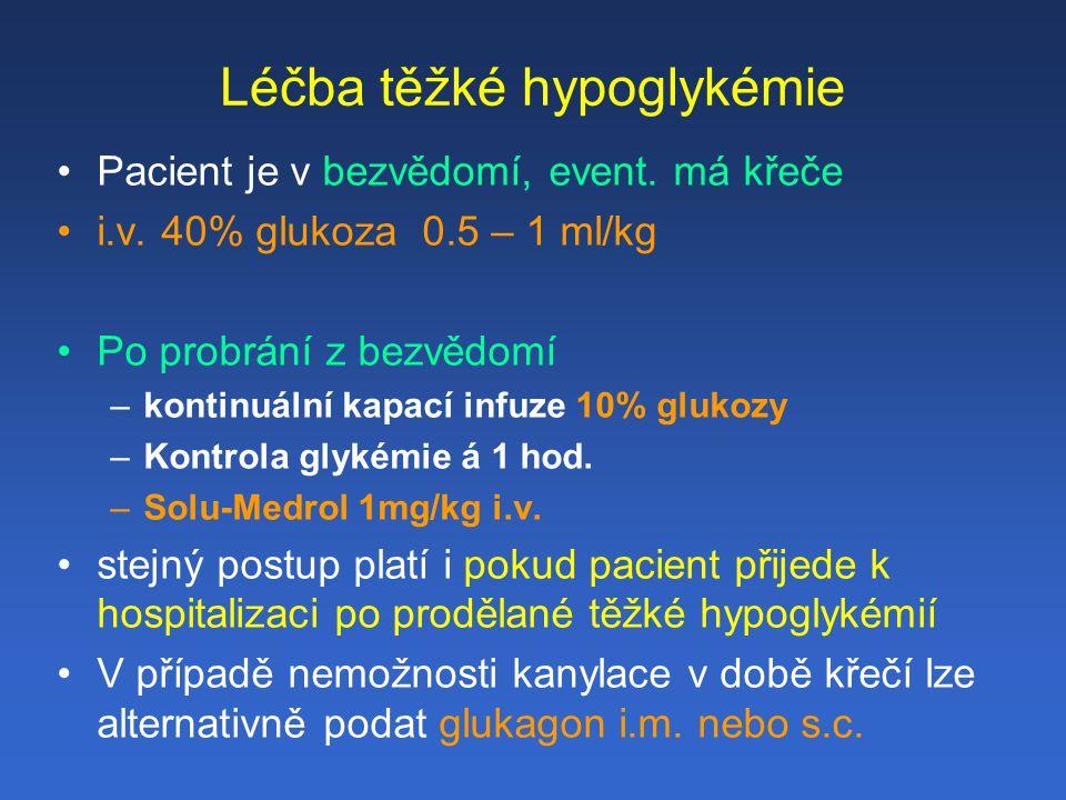 Léčba těžké hypoglykémie