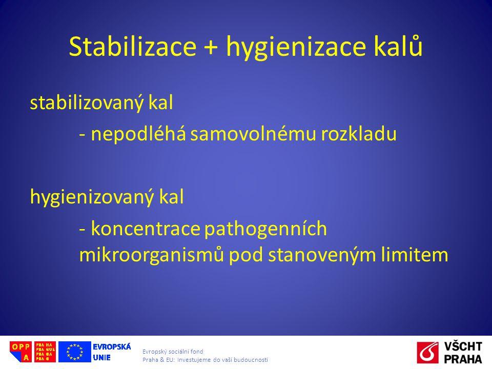 Stabilizace + hygienizace kalů