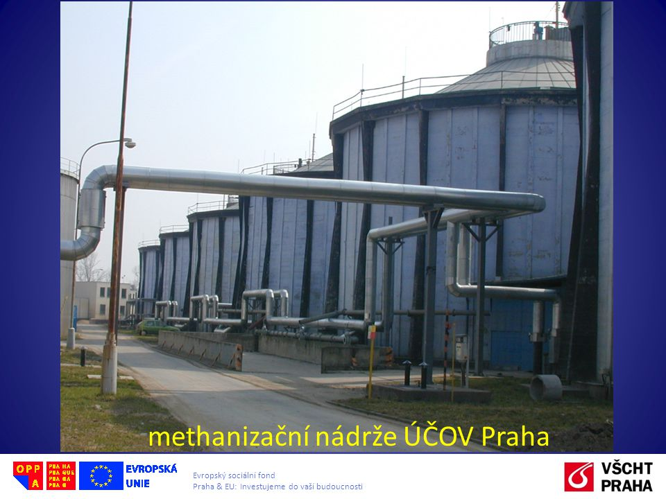 methanizační nádrže ÚČOV Praha