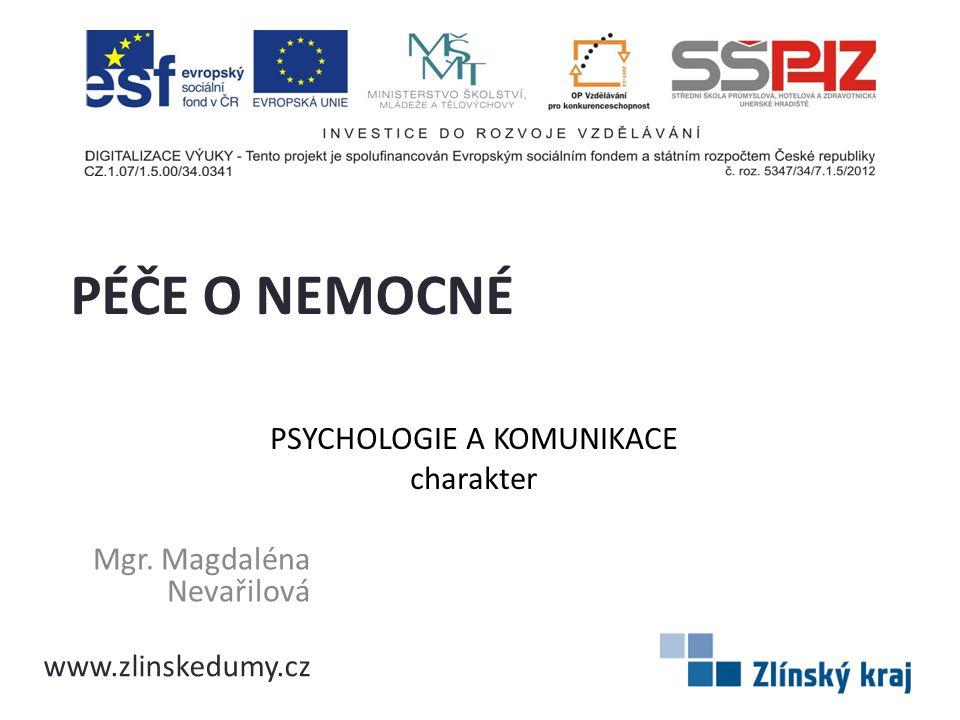 PSYCHOLOGIE A KOMUNIKACE charakter