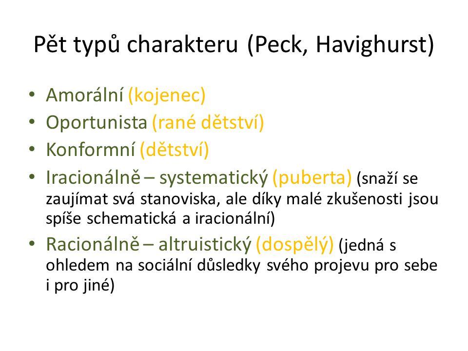 Pět typů charakteru (Peck, Havighurst)