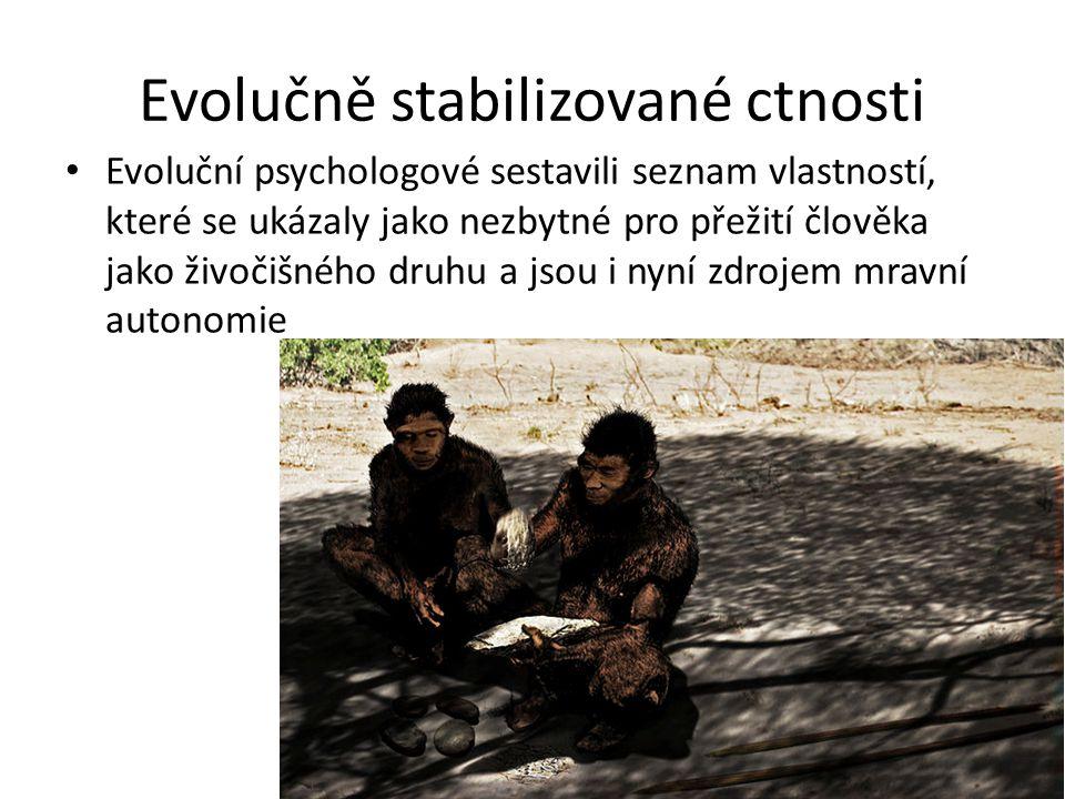 Evolučně stabilizované ctnosti
