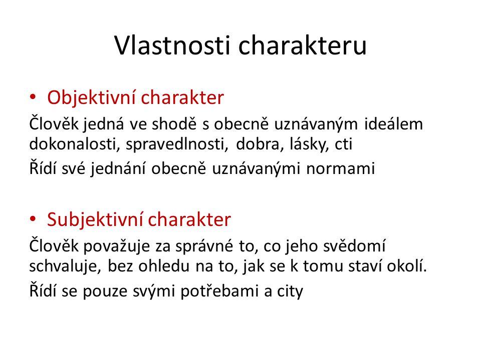 Vlastnosti charakteru