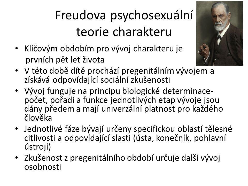 Freudova psychosexuální teorie charakteru