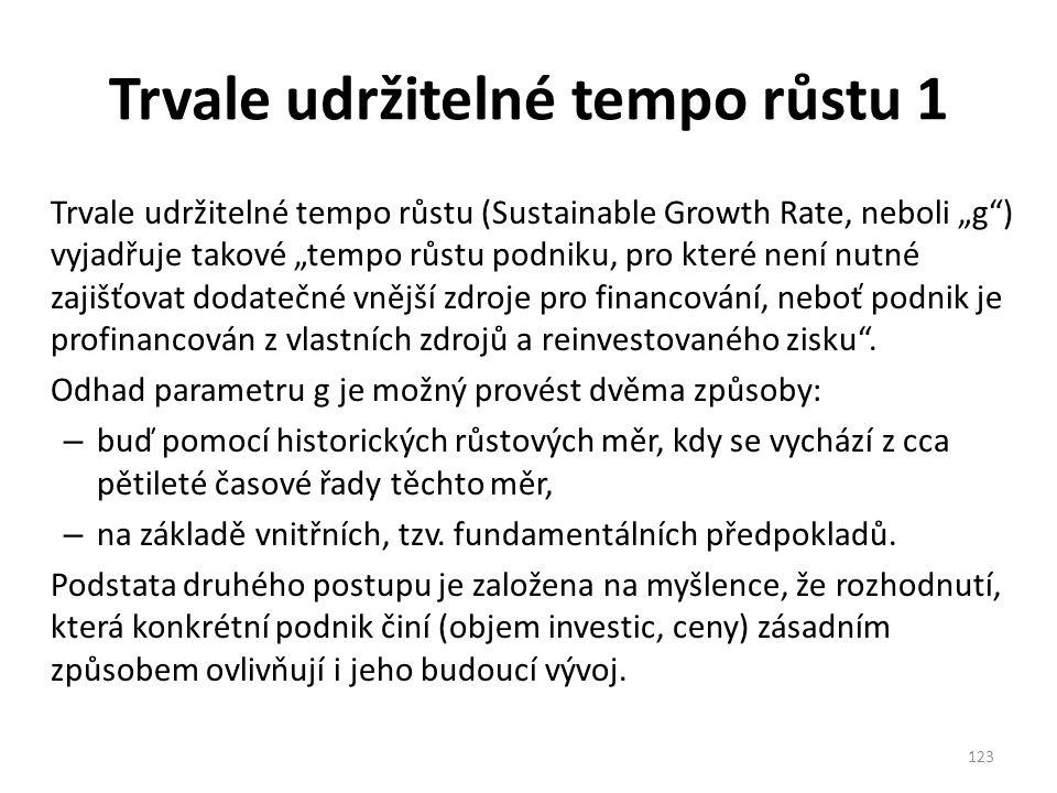 Trvale udržitelné tempo růstu 1