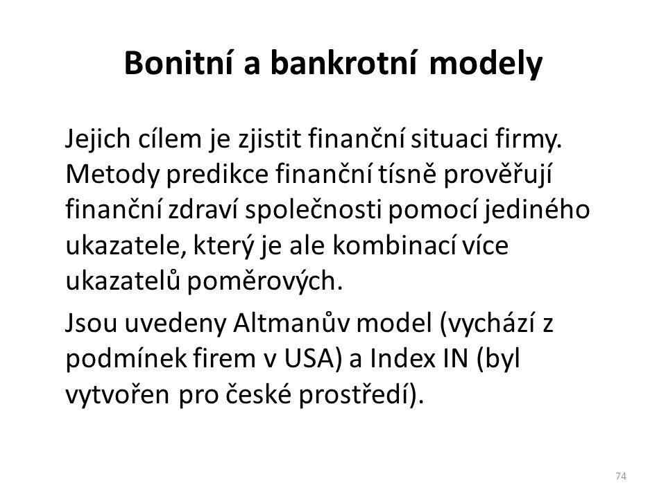Bonitní a bankrotní modely