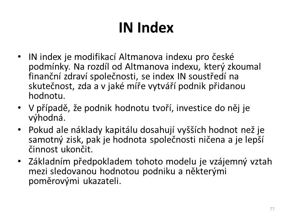 IN Index
