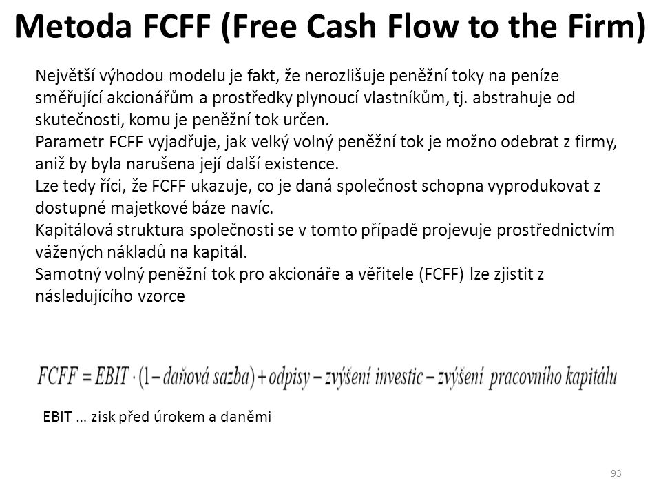 Metoda FCFF (Free Cash Flow to the Firm)
