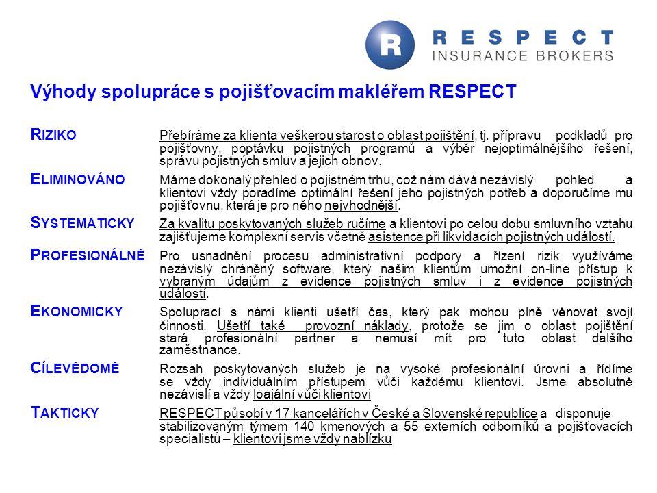 Výhody spolupráce s pojišťovacím makléřem RESPECT