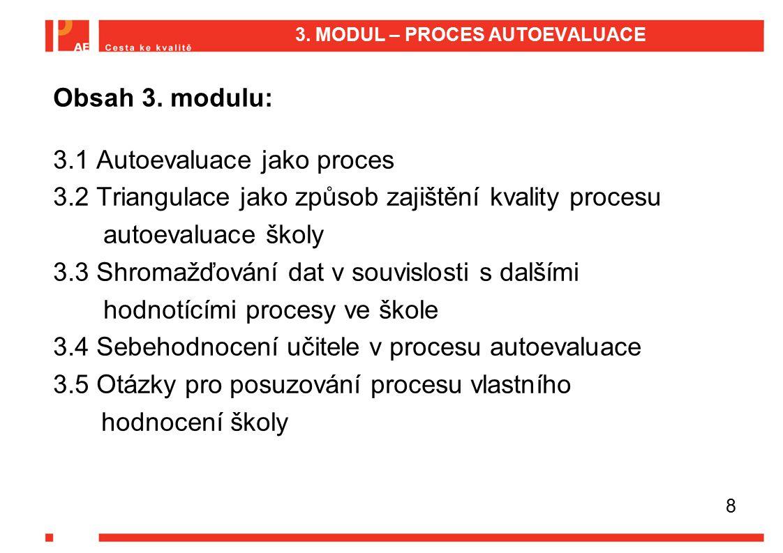 3. MODUL – PROCES AUTOEVALUACE