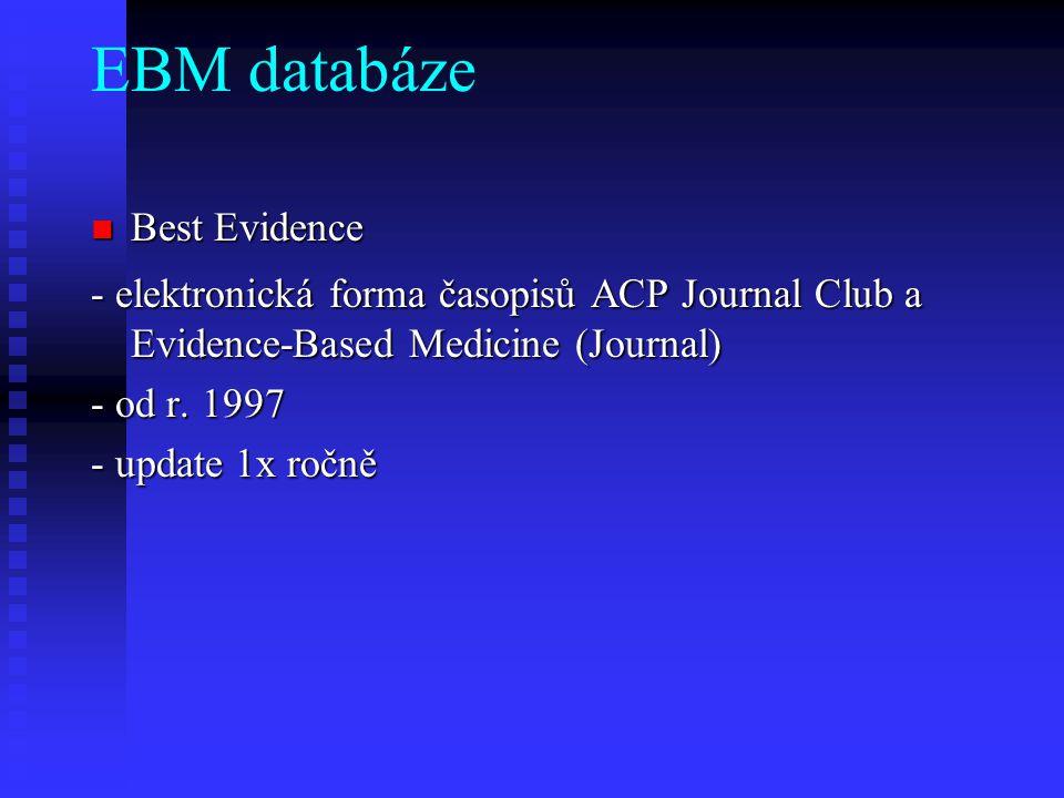 EBM databáze Best Evidence