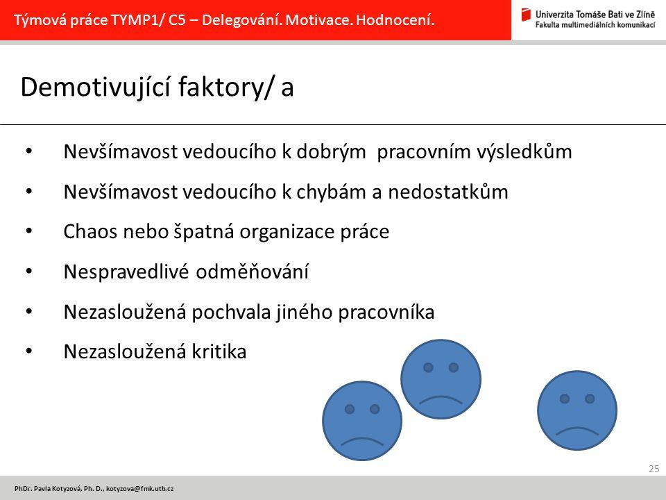 Demotivující faktory/ a