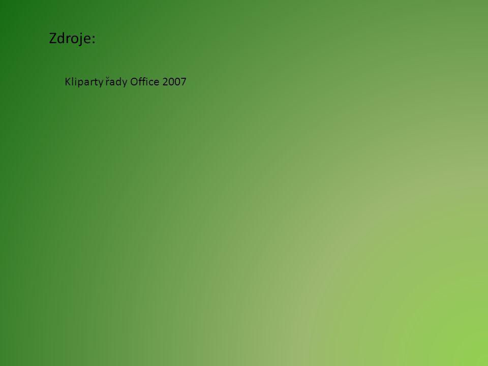 Zdroje: Kliparty řady Office 2007