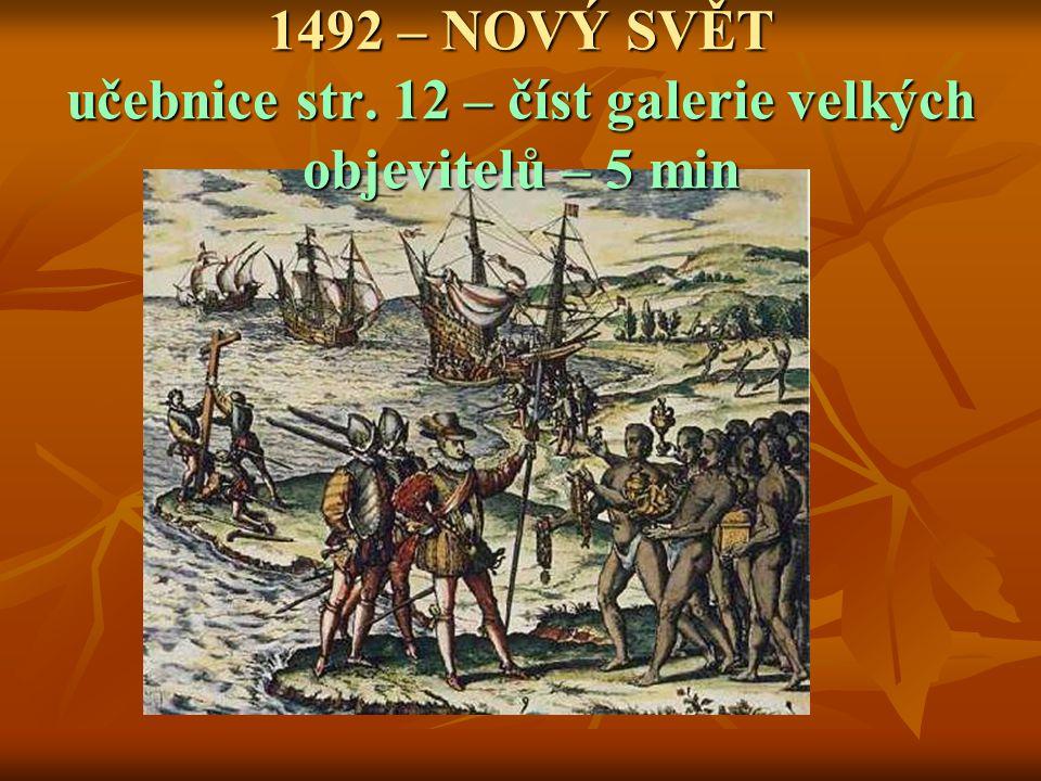 1492 – NOVÝ SVĚT učebnice str