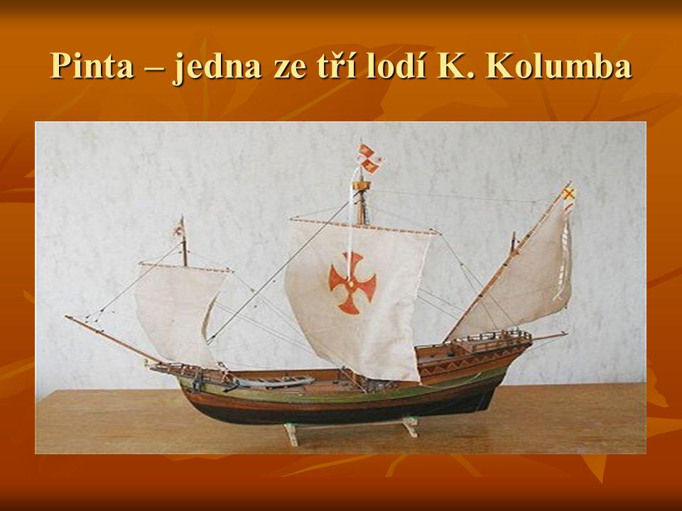 Pinta – jedna ze tří lodí K. Kolumba