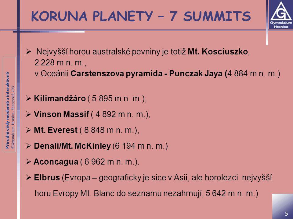 KORUNA PLANETY – 7 SUMMITS