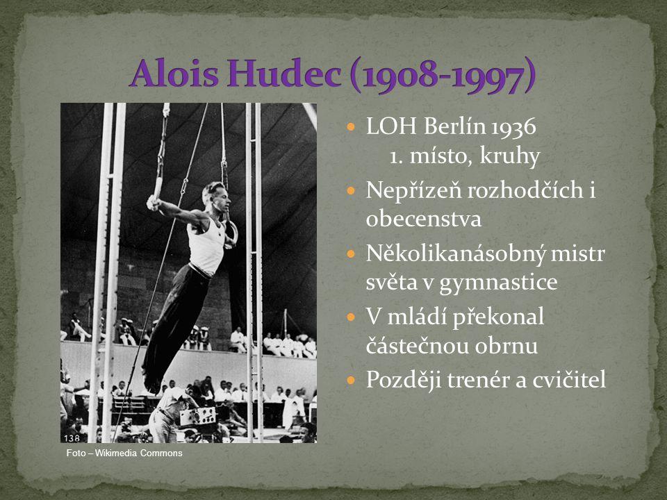 Alois Hudec (1908-1997) LOH Berlín 1936 1. místo, kruhy