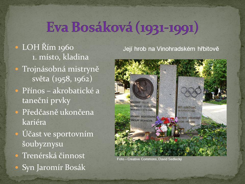 Eva Bosáková (1931-1991) LOH Řím 1960 1. místo, kladina