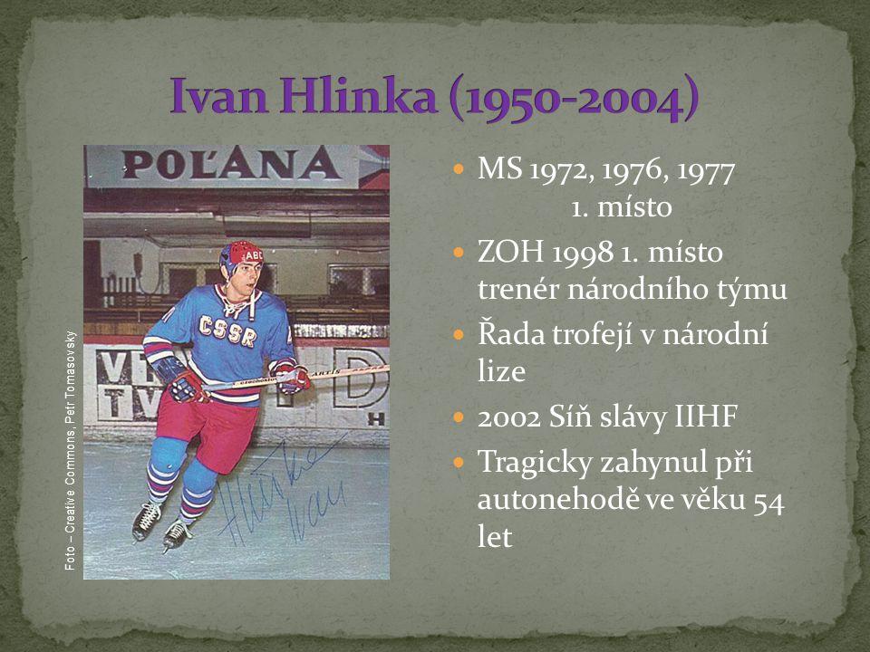 Ivan Hlinka (1950-2004) MS 1972, 1976, 1977 1. místo