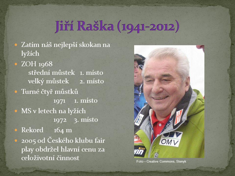Jiří Raška (1941-2012) Zatím náš nejlepší skokan na lyžích
