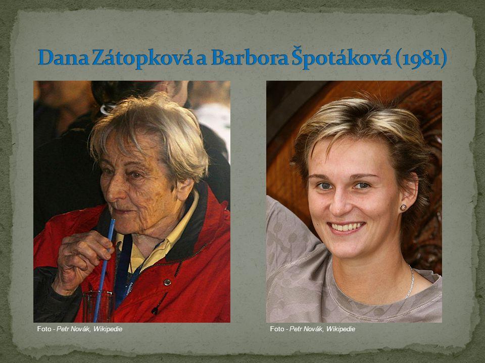 Dana Zátopková a Barbora Špotáková (1981)