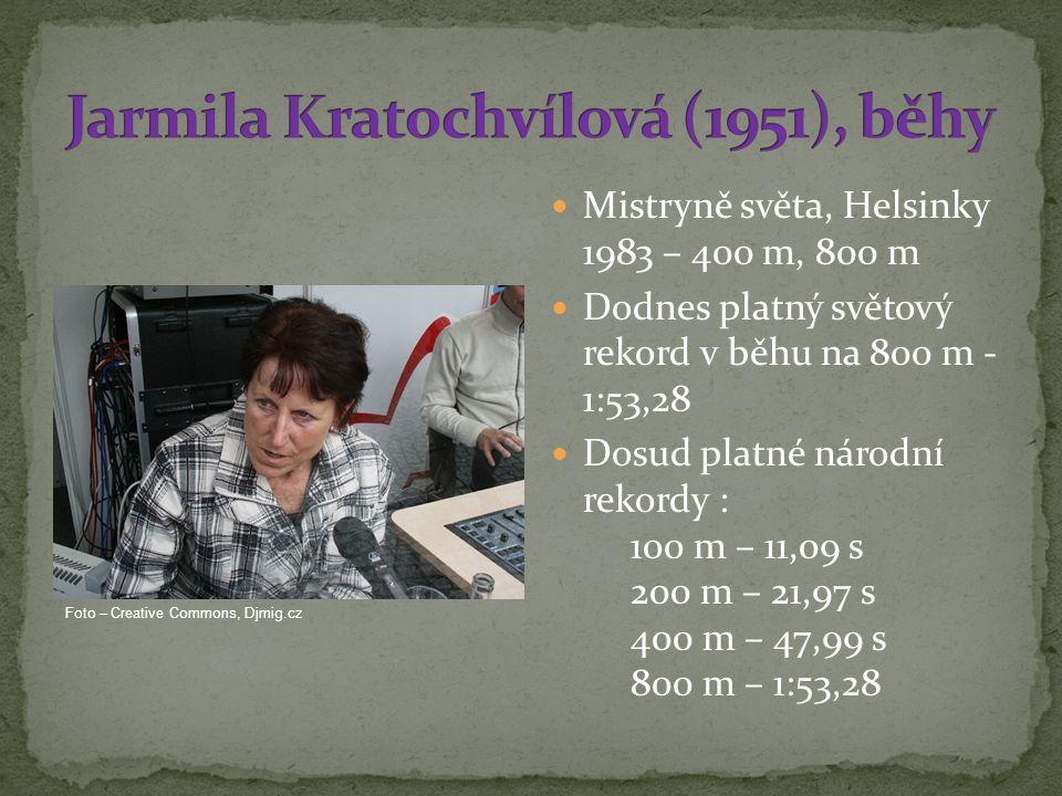 Jarmila Kratochvílová (1951), běhy
