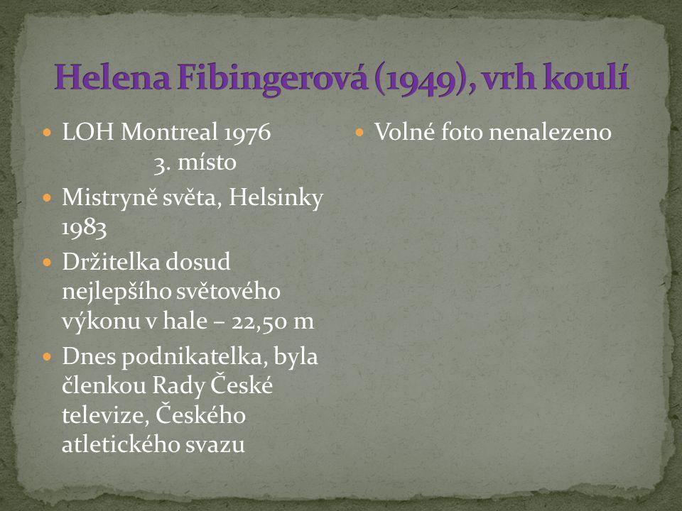Helena Fibingerová (1949), vrh koulí