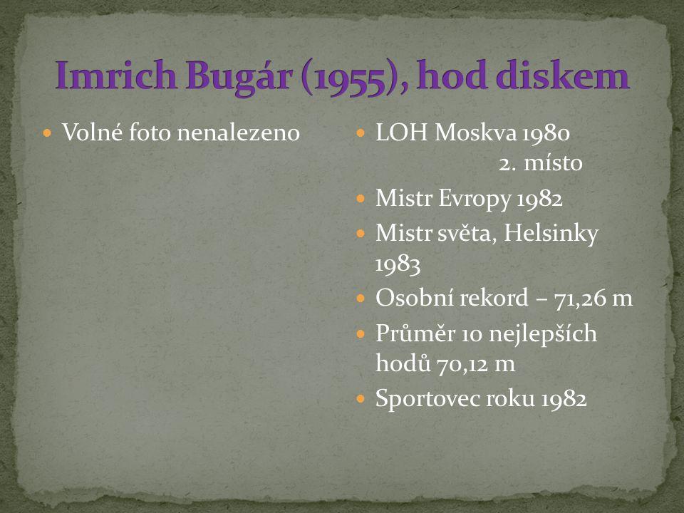 Imrich Bugár (1955), hod diskem