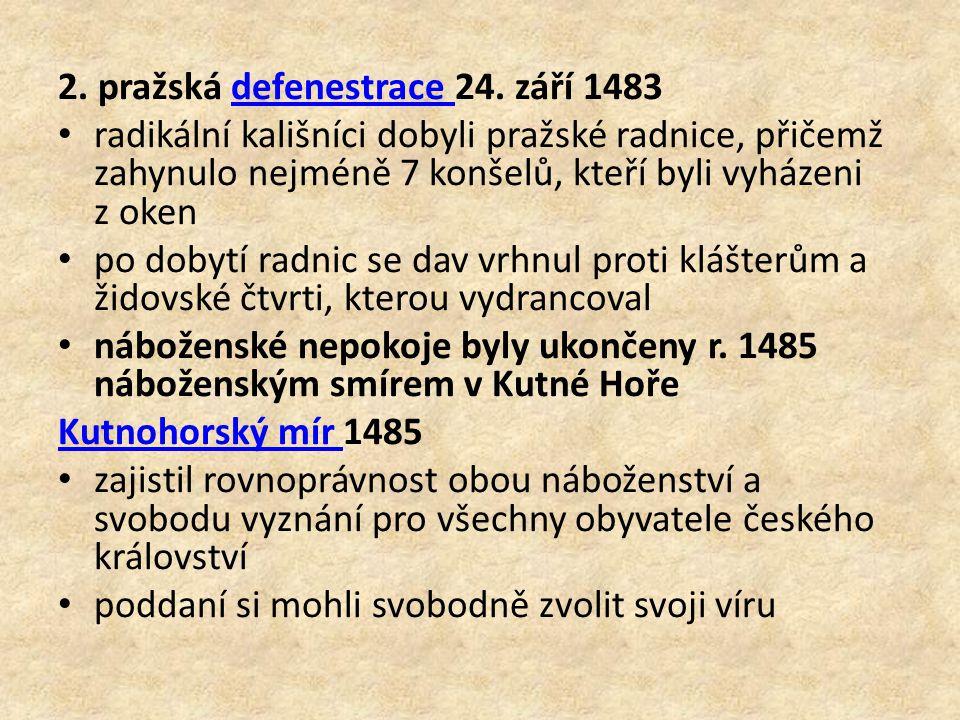 2. pražská defenestrace 24. září 1483