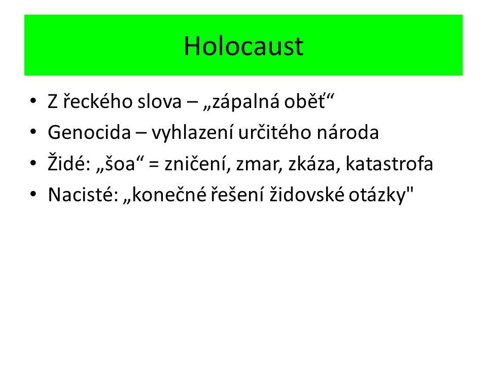 """Holocaust Z řeckého slova – """"zápalná oběť"""