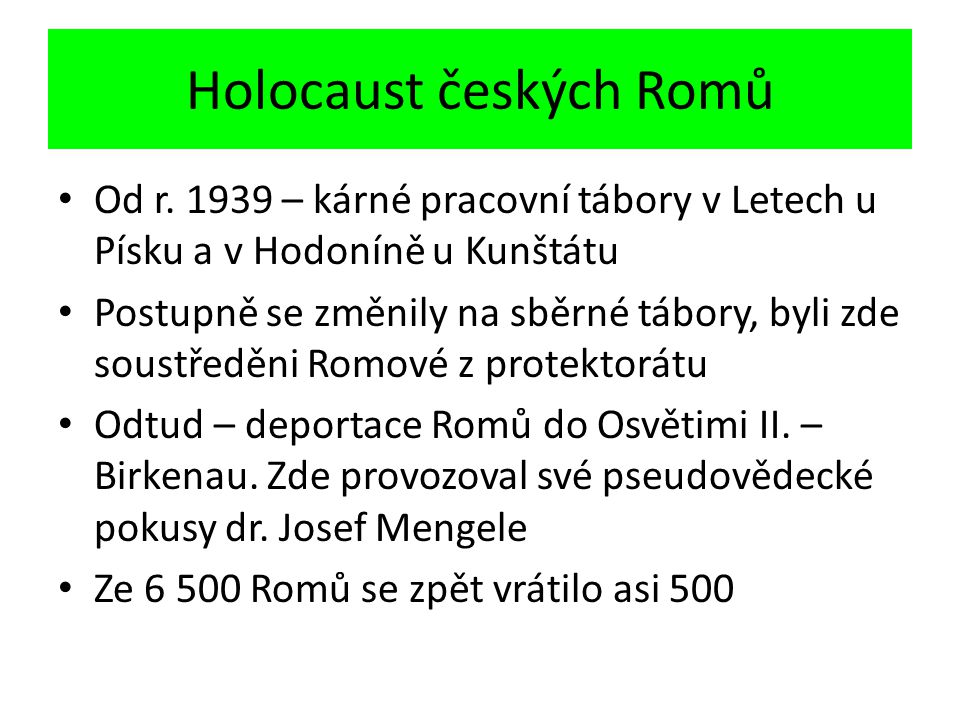 Holocaust českých Romů