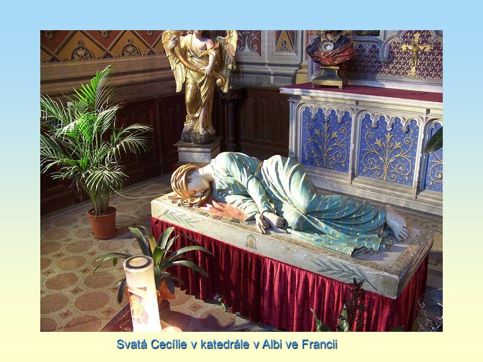 Svatá Cecílie v katedrále v Albi ve Francii