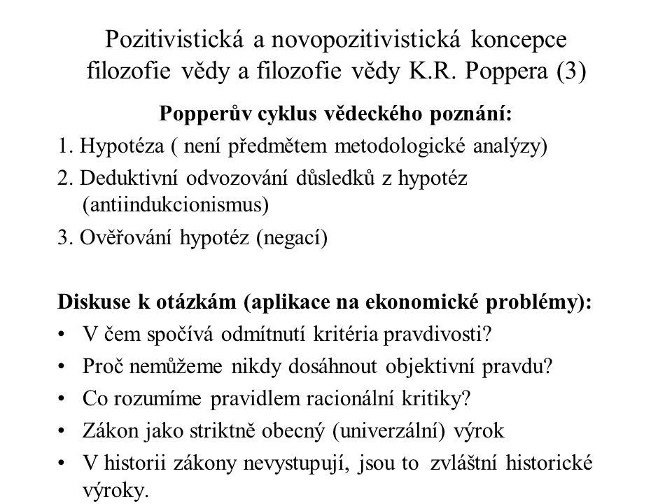 Popperův cyklus vědeckého poznání: