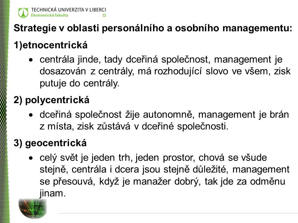Strategie v oblasti personálního a osobního managementu: