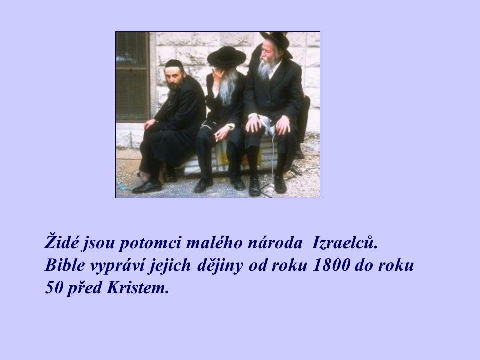 Židé jsou potomci malého národa Izraelců.