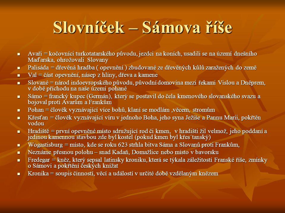 Slovníček – Sámova říše
