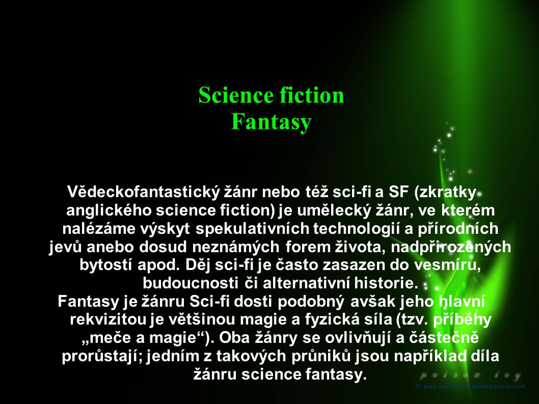 Science fiction Fantasy