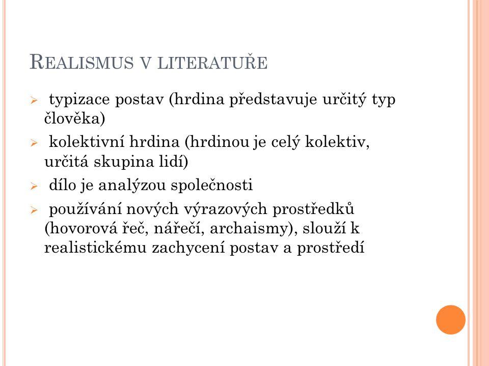 Realismus v literatuře