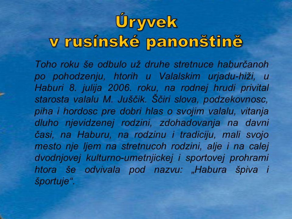 Úryvek v rusínské panonštině