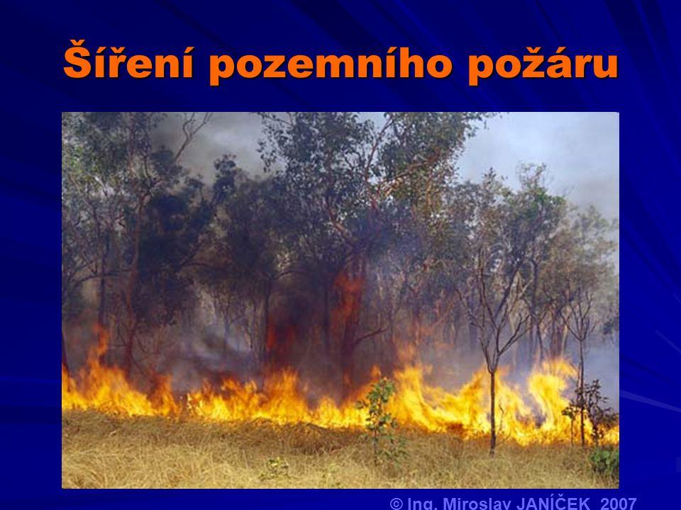 Šíření pozemního požáru