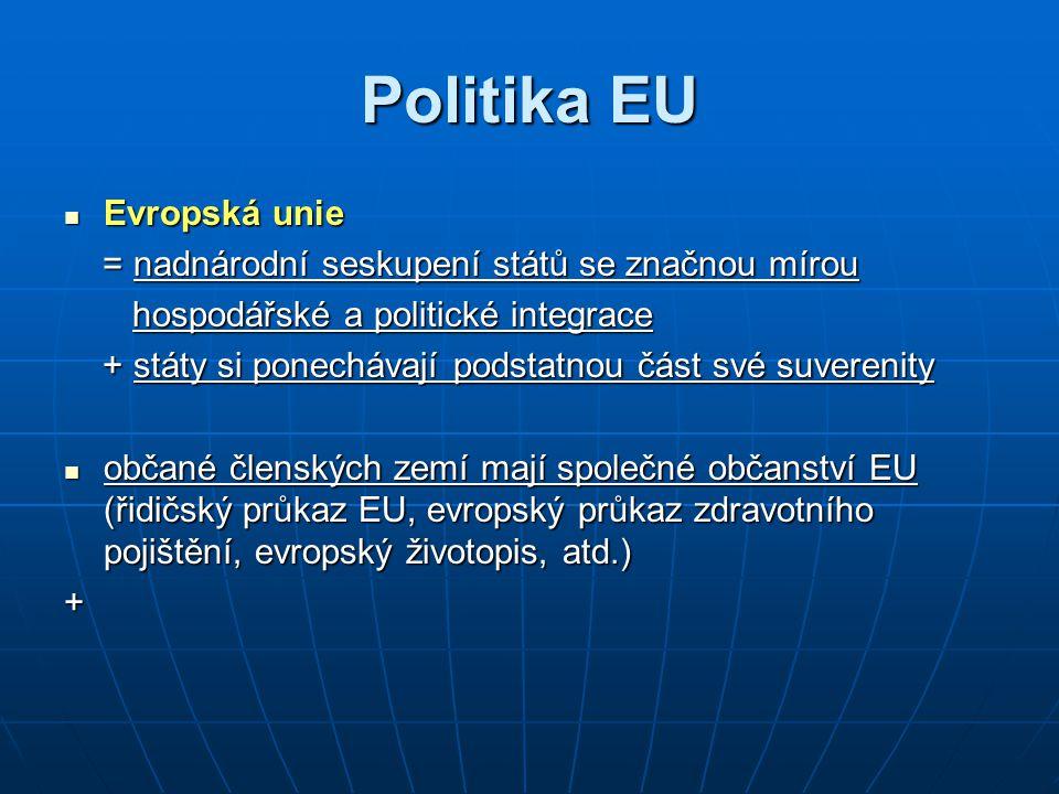 Politika EU Evropská unie