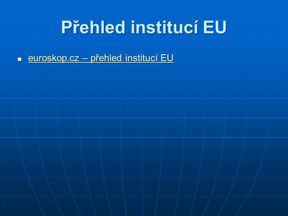 Přehled institucí EU euroskop.cz – přehled institucí EU