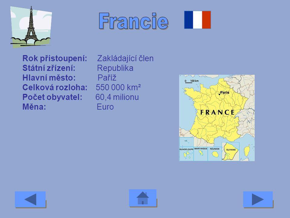 Francie Rok přistoupení: Zakládající člen Státní zřízení: Republika