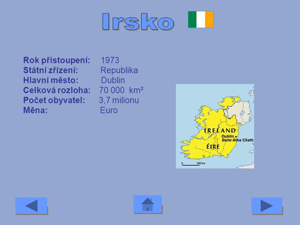 Irsko Rok přistoupení: 1973 Státní zřízení: Republika