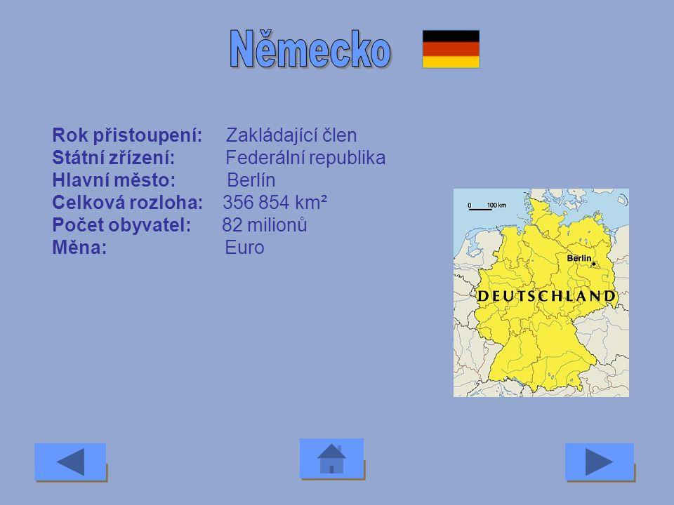 Německo Rok přistoupení: Zakládající člen