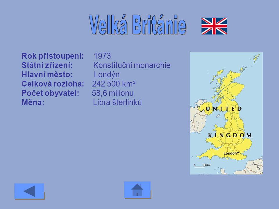 Velká Británie Rok přistoupení: 1973