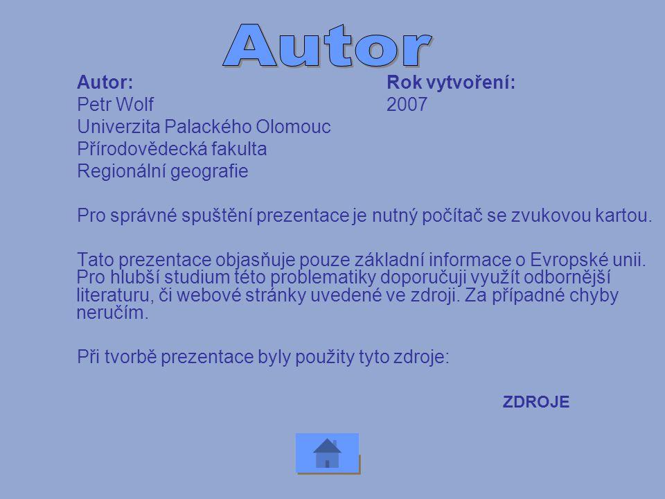 Autor Autor: Rok vytvoření: Petr Wolf 2007