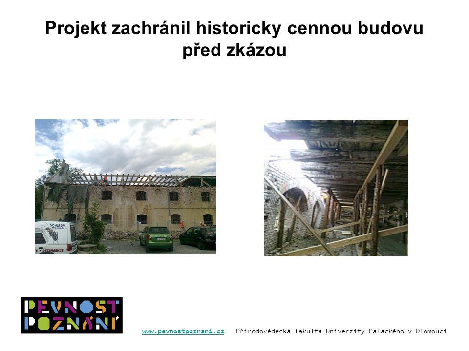 Projekt zachránil historicky cennou budovu před zkázou